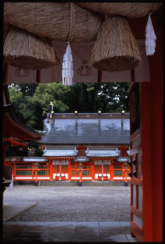 A spectacle of Hayatama-taisha Shinto shrine No.2 (taken by film camera).