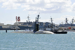 USS Greeneville (SSN 772) returns to Joint Base Pearl Harbor-Hickam Aug. 25. (U.S. Navy/MC1 Steven Khor)