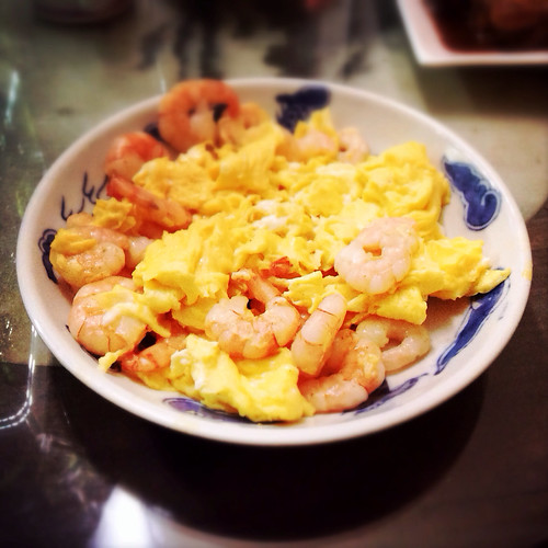chinese, eggs, recipe, shrimp, stir fry, 炒, 蛋, 蝦仁, comfort food, scrambled eggs