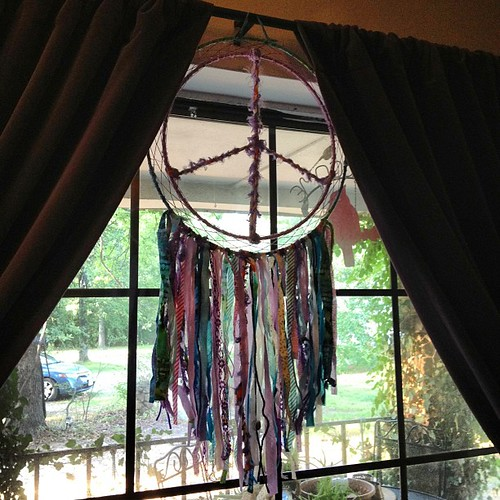 The beautiful #dreamcatcher made specially for me by the talented Corinna of Boots Kill Too