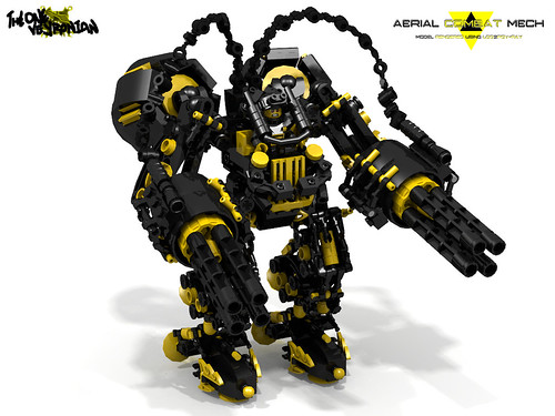 LEGO Mecha/Hardsuit - Aerial combat mech