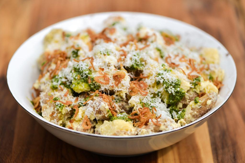 Aioli-and-Pesto Fingerling Potato Salad