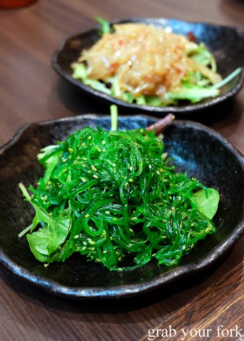 Wakama gomaae Japanese seaweed salad at Pasta Goma, Sydney