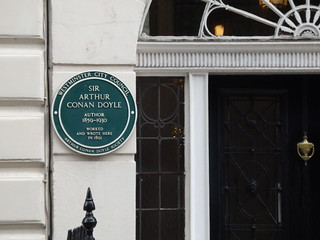 Arthur Conan Doyle's home on Upper Wimpole Street in London. He wrote the first five Sherlock Holmes short stories here while practicing as an ophthalmologist.