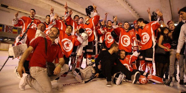 The Tunisian National Ice Hockey Team in Courbevoie, France. Image Credit: Official Facebook page of the Tunisian Ice Hockey Association Africa Tunisia news headlines breaking Tunis Sousse Carthage Politics Elections Essebsi Ghannouchi Marzouki Jomaa Mehdi Moncef Beji Caid Ennahdha Chaambi Soldiers Terrorism Attack Media Press Freedom Culture Society Sahel