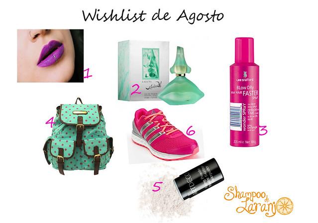 wishlist agosto