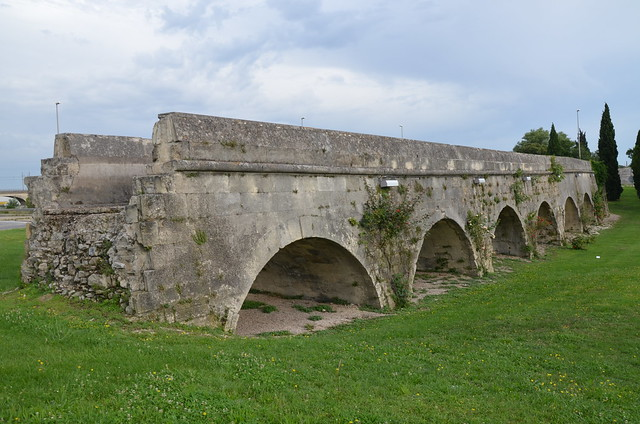 Aqueduct of Pont de Crau built in the 1st century AD, Arles, France