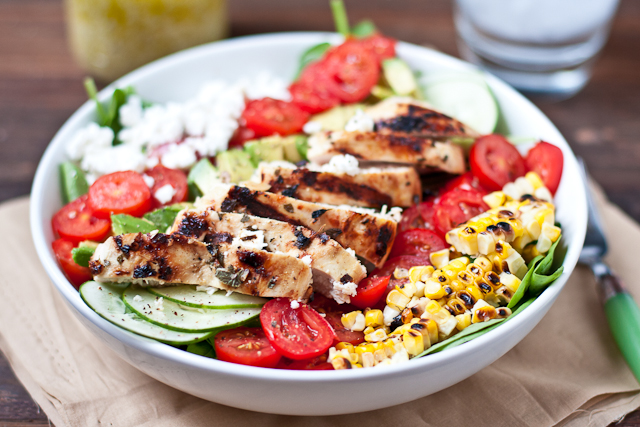My Favorite Salad Chicken: Mojo Brined Grilled Chicken Breast