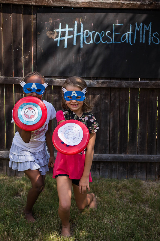 Captain America Party Photo Booth #HeroesEatMMs #Shop