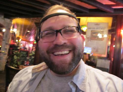 David &t his Muse EEG headband at Seattle + ISWC + Ubicomp Quantified Self meetup