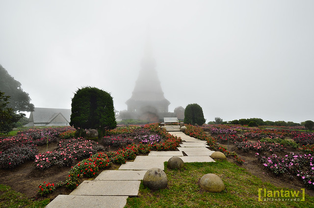 King Pagoda on a foggy day