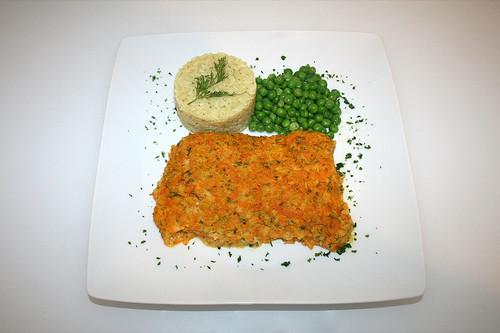 49 - Kabeljau mit Kürbishaube - Serviert / Codfish with pumpkin cover - Served