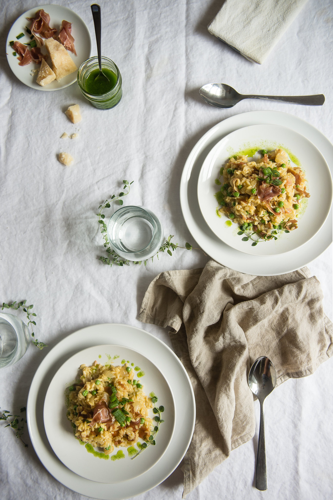 risotto with peas & crispy prosciutto // a giveaway!