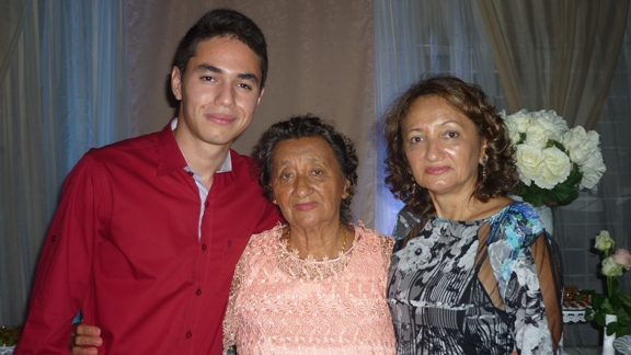 Victor, Jacira e Jacirene Façanha