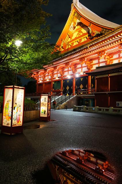 Asakusa lantern night 02