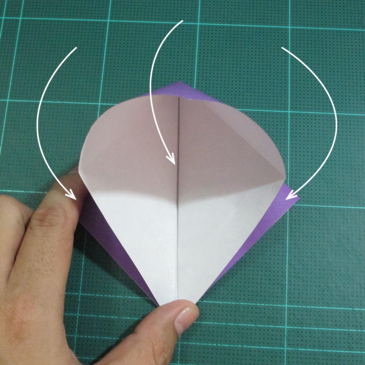 วิธีพับกระดาษเป็นรูปเต่าแบบง่าย (Easy Origami Turtle) 002