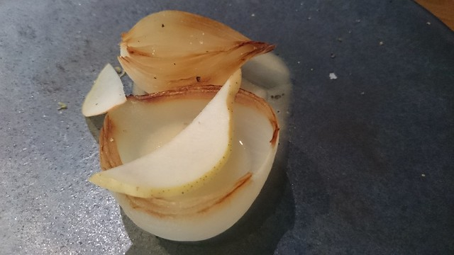 Hedone pear and onion