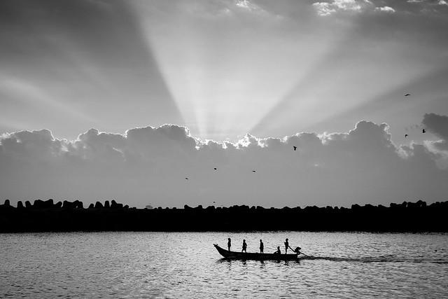 Fishermen off to Work.