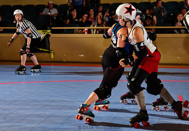 Kansas City's Dr. Dread #47 runs into Envy Atom's tough defense.