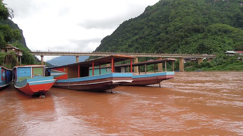 2014 coolpix laos namou nikon nongkhiaw p300 boat river bridge water outdoor