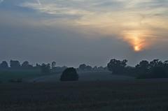 Misty Sunset, Suffolk