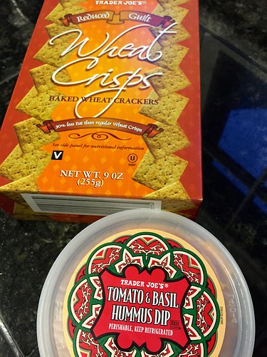 TJs hummus & crackers