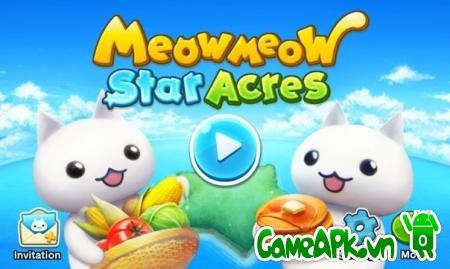 Meow Meow Star Acres v1.2.6 hack full vàng & đá quý cho Android