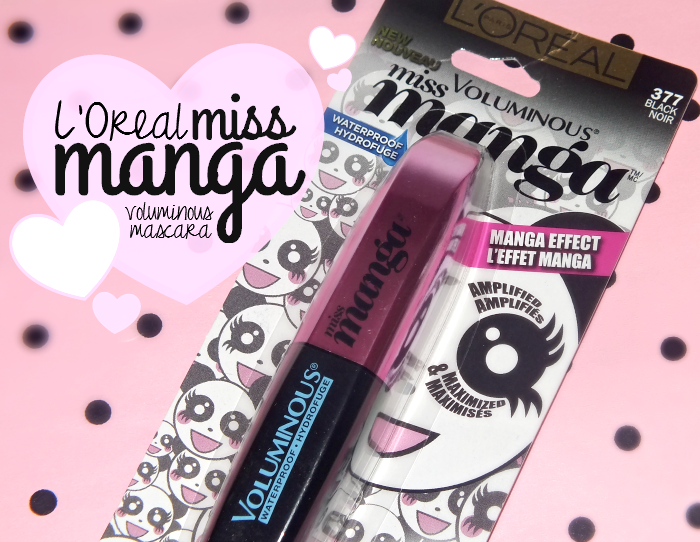 l'oreal miss manga voluminous waterproof mascara (1)
