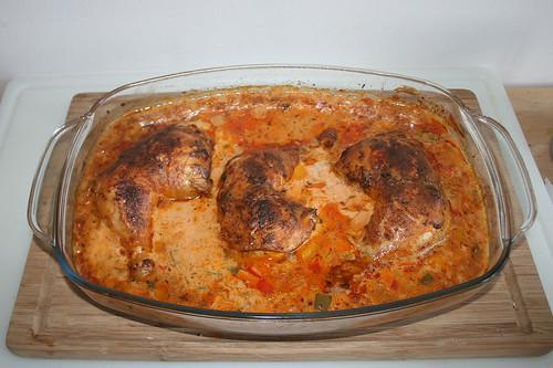 64 - Hähnchenpaprikasch - Fertig gebacken / Chicken Paprikasch - Finished baking