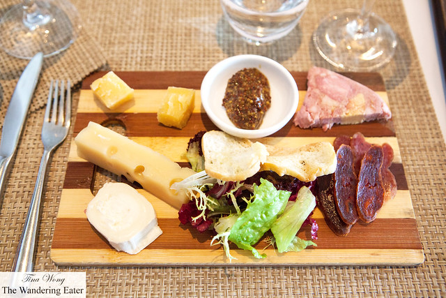 Charcuterie and cheese platter