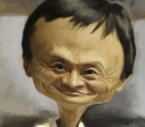 digital caricature of Jack Ma - 3
