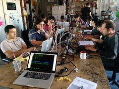 Intro to Reverse Engineering class at NYC Resistor