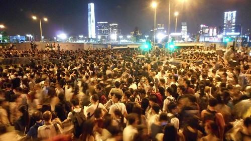 08香港のデモ現場に行って