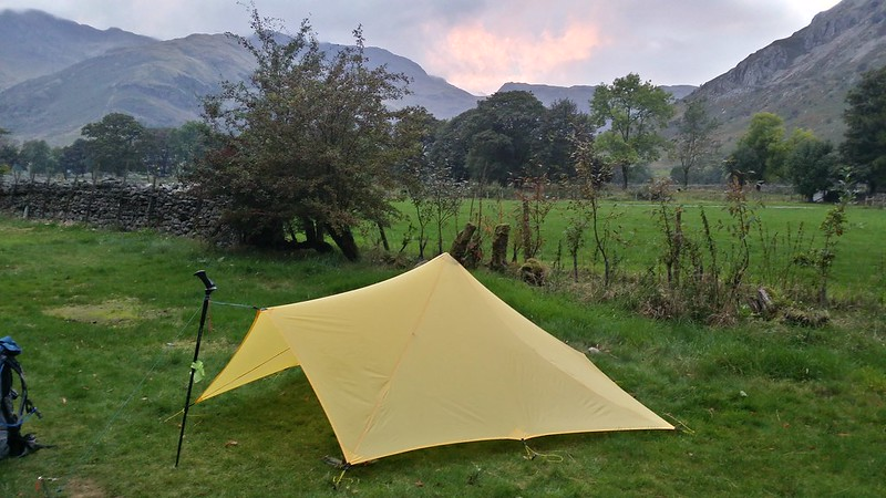 Pitch at Great Langdale NT campsite #sh