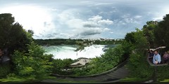 Rhine Falls in 360 ° from above