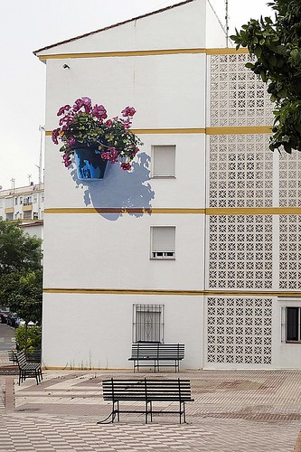 Murales Artísticos de Estepona (Spain): Reflejos del Jardin (Reflections of the Garden) by Jose Fernandez Rios