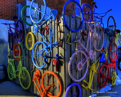 bicycles wall colorful abstractart art colors digital wausau wisconsin wausauwisconsin marathoncounty geotagged bike bikes usa america northamerica midwest canon canon6d hdr tonemapping photomatix canoneos centralwisconsin colours bicyclearrangement bright walls wheels