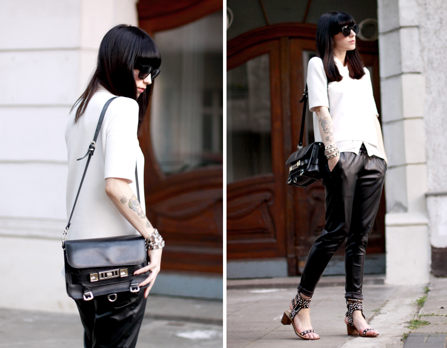 Casual Chic outfit sporty Isabel Marant Proenza Schouler ASOS style black and white city chic Berlin CATS & DOGS fashion blog Berlin 5