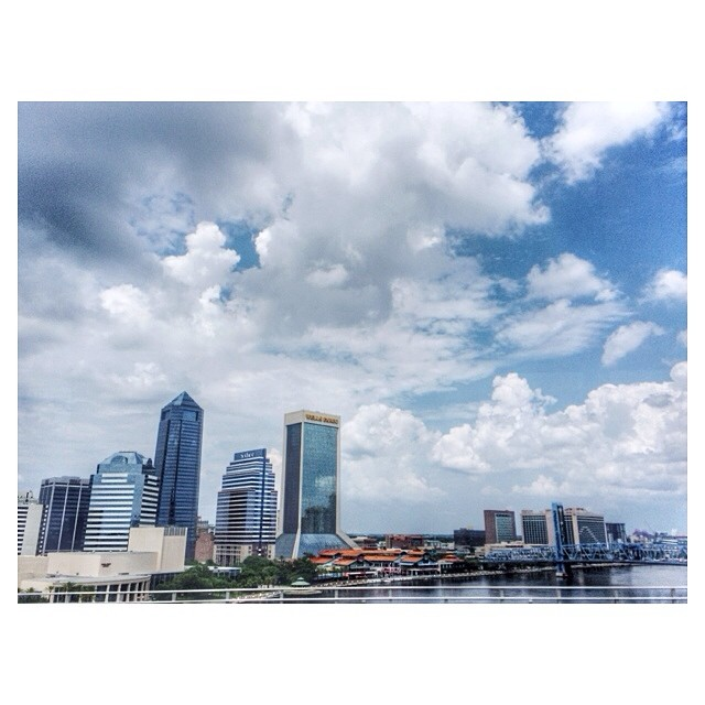 Today's view from the Jacksonville Skyway. #staycation #ilovejacksonville #igersjax #jacksonville