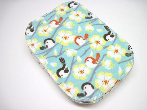Girl Print Two Ply Flannel Wipes