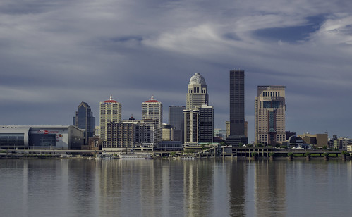 ohio skyline river downtown kentucky indiana louisville riverfront