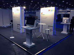 Zoho Corporation - Temporary wallings, iMac Workstations - Excel, London - 14 May 2014