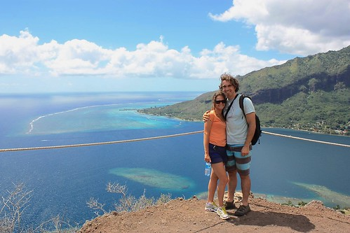view from top of moorea