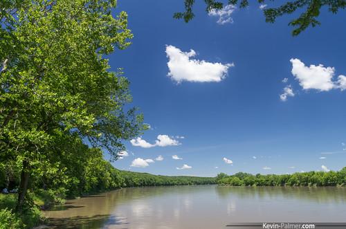 statepark blue trees summer sky green water june clouds iowa polarizer muddy flooded desmoinesriver kevinpalmer keosauqua tamron1750mmf28 elyford laceykeosauqua mormontrailcrossing pentaxk5
