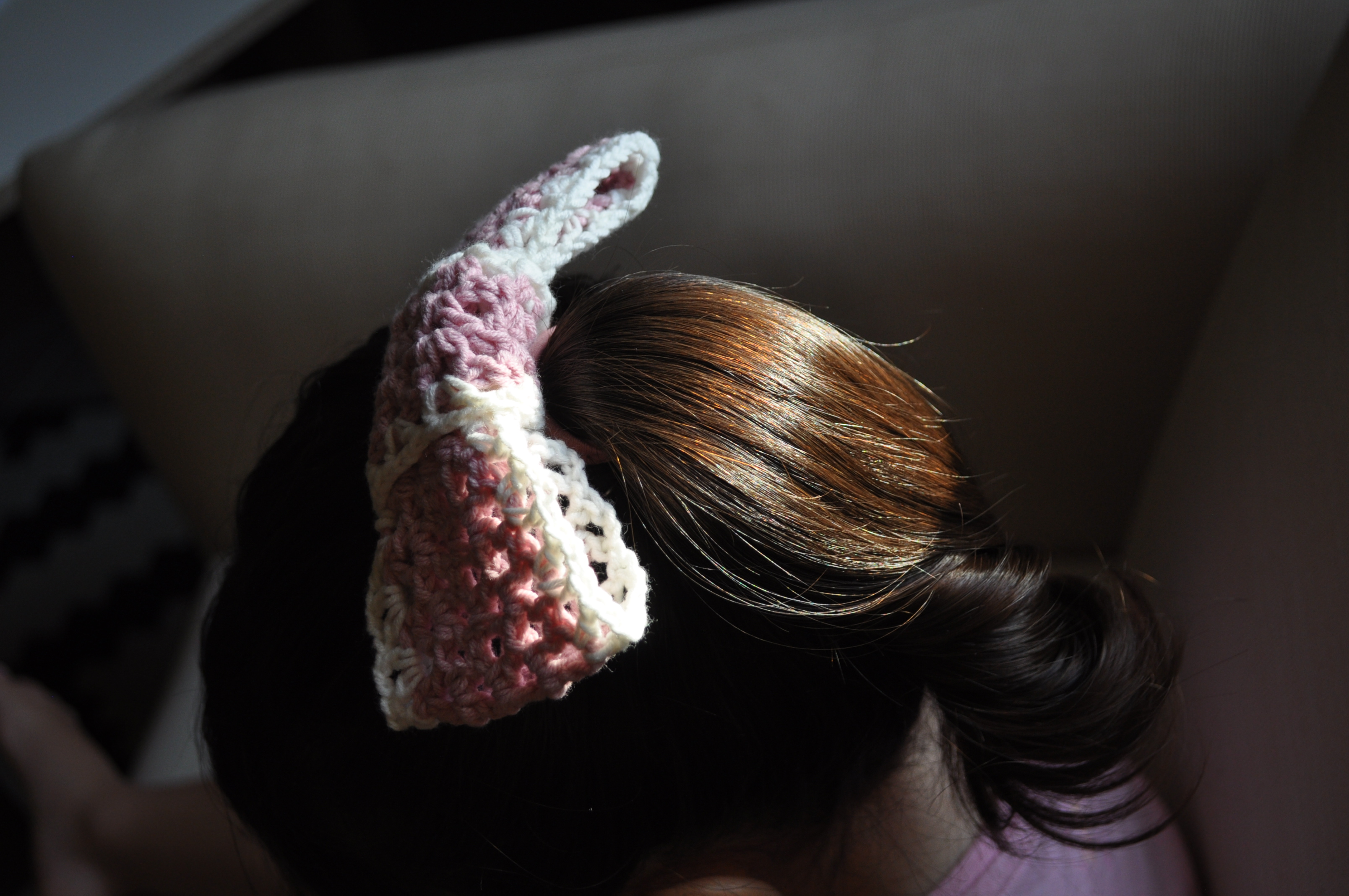 crochet hairbow bow