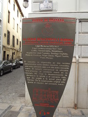 Photo of Granada Ayuntamiento and Convento del Carmen red and black plaque