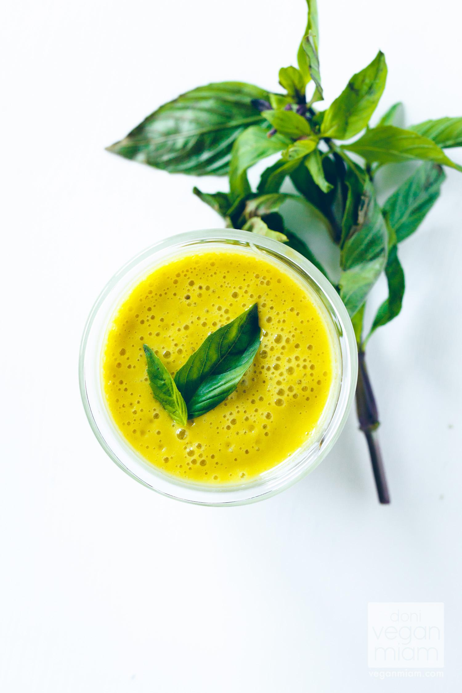 Mango & Thai Basil Smoothie