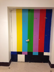 The old LHS TV Studio door.