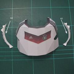 วิธีทำชุดนักบอลฟุตบอลโลก 2014 ทีมเยอร์มันสำหรับโมเดลหมีบราวน์ (FIFA World Cup  Soccer  Germany  Jersey Papercraft Model) 005
