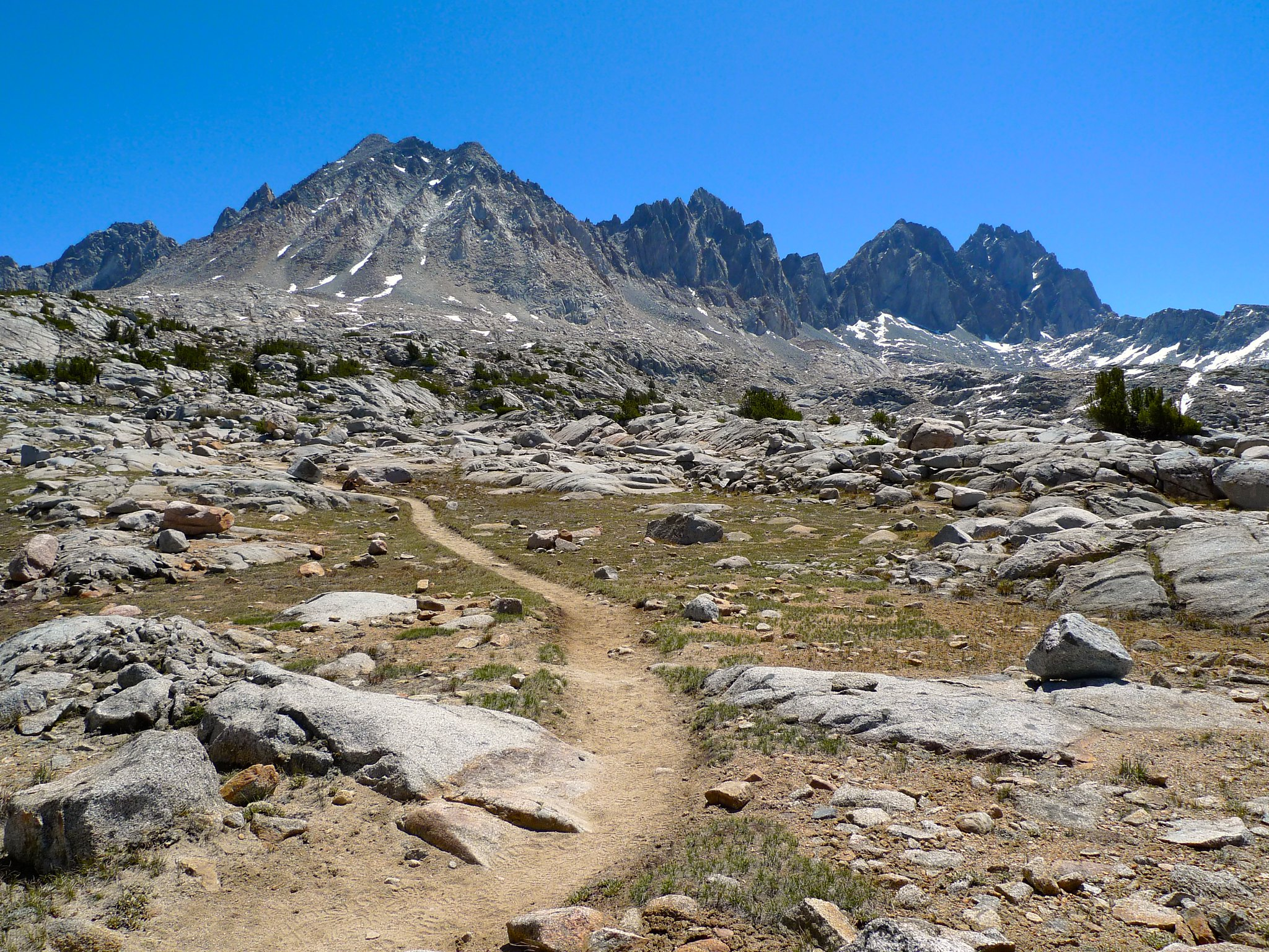 Heading back up to Bishop Pass